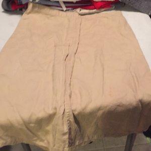 Linen skirt knee length